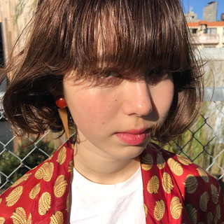 色気 パーマ ボブ ナチュラル ヘアスタイルや髪型の写真・画像