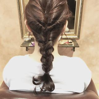 くるりんぱ ミディアム 簡単ヘアアレンジ ミルクティー ヘアスタイルや髪型の写真・画像 ヘアスタイルや髪型の写真・画像