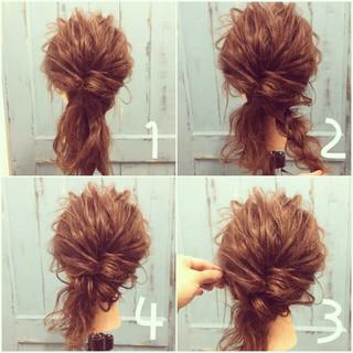 夏 かわいい ミディアム ハーフアップ ヘアスタイルや髪型の写真・画像