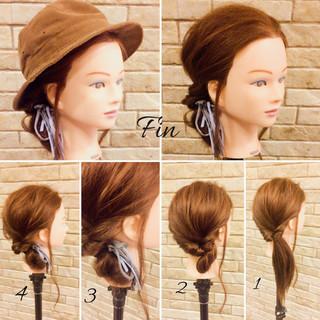 簡単ヘアアレンジ 大人女子 春 ミディアム ヘアスタイルや髪型の写真・画像