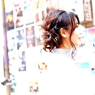 アップスタイル 黒髪 ストリート ヘアアレンジ ヘアスタイルや髪型の写真・画像