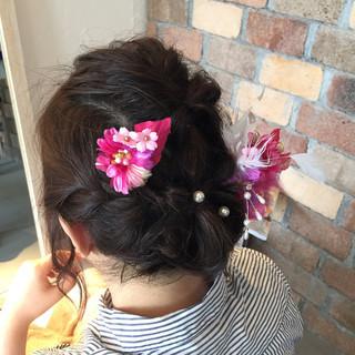 ショート ゆるふわ 簡単ヘアアレンジ ミディアム ヘアスタイルや髪型の写真・画像