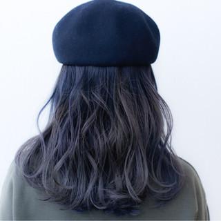 ミディアム ブリーチ ダブルカラー ストリート ヘアスタイルや髪型の写真・画像