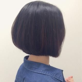 黒髪 前下がり モード ボブ ヘアスタイルや髪型の写真・画像