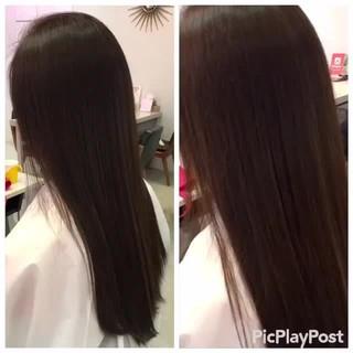 セミロング 艶髪 暗髪 ヘアアレンジ ヘアスタイルや髪型の写真・画像