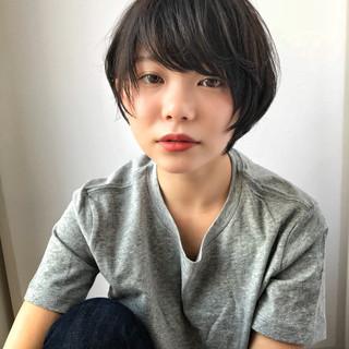 色気 ショート ナチュラル 小顔 ヘアスタイルや髪型の写真・画像