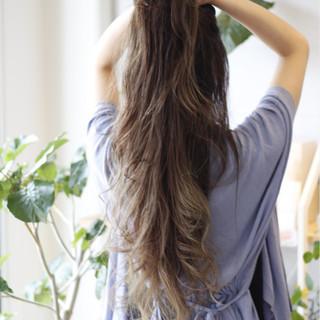 エレガント 外国人風カラー 上品 バレイヤージュ ヘアスタイルや髪型の写真・画像