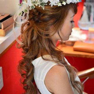 ヘアアレンジ 結婚式 ブライダル 花嫁 ヘアスタイルや髪型の写真・画像 ヘアスタイルや髪型の写真・画像