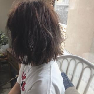 ローライト ボブ モード ゆるふわ ヘアスタイルや髪型の写真・画像