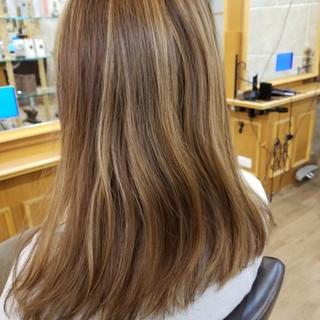 ダブルカラー グラデーションカラー ハイライト エレガント ヘアスタイルや髪型の写真・画像