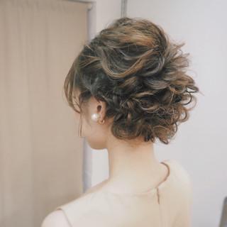 大人かわいい 編み込み ヘアアレンジ ミディアム ヘアスタイルや髪型の写真・画像