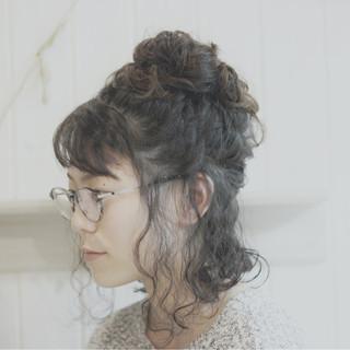 外国人風 ヘアアレンジ ボブ ショート ヘアスタイルや髪型の写真・画像