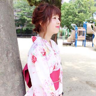 波ウェーブ ヘアアレンジ 夏 セミロング ヘアスタイルや髪型の写真・画像