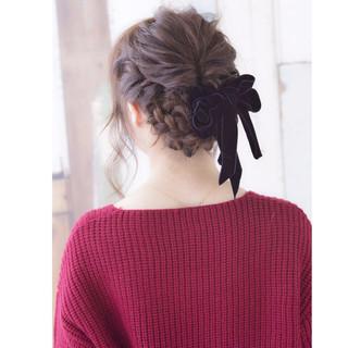 成人式 大人かわいい セミロング ヘアアレンジ ヘアスタイルや髪型の写真・画像 ヘアスタイルや髪型の写真・画像