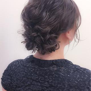 パーティ ヘアアレンジ アップスタイル 冬 ヘアスタイルや髪型の写真・画像 ヘアスタイルや髪型の写真・画像