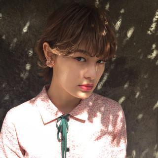 透明感 ガーリー ハイライト フェミニン ヘアスタイルや髪型の写真・画像