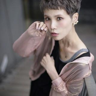 アッシュ 透明感 ラベンダーアッシュ ベリーショート ヘアスタイルや髪型の写真・画像 ヘアスタイルや髪型の写真・画像