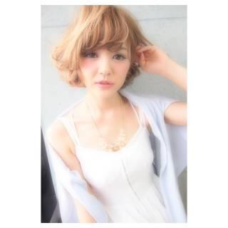 モテ髪 コンサバ ボブ フェミニン ヘアスタイルや髪型の写真・画像