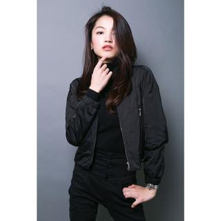 黒髪 暗髪 イルミナカラー ロング ヘアスタイルや髪型の写真・画像