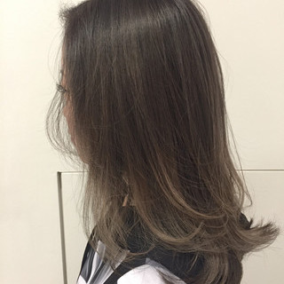 ブルージュ 外国人風 ストリート グラデーションカラー ヘアスタイルや髪型の写真・画像