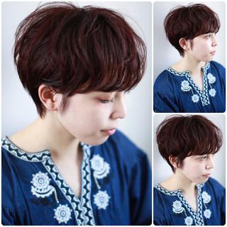 外国人風カラー ショート 爽やか ウェーブ ヘアスタイルや髪型の写真・画像
