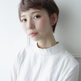 シースルーバング ショートバング ショート 透明感 ヘアスタイルや髪型の写真・画像