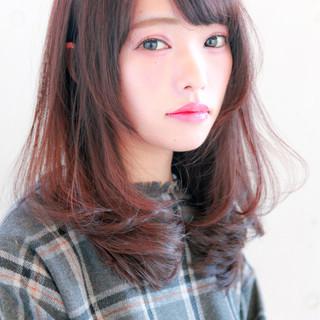 ナチュラル 艶髪 セミロング ストレート ヘアスタイルや髪型の写真・画像