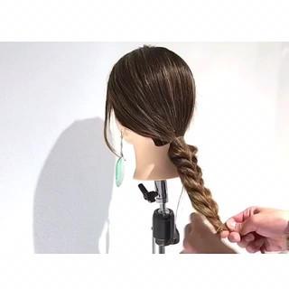 ヘアアレンジ 女子会 フェミニン ポニーテール ヘアスタイルや髪型の写真・画像