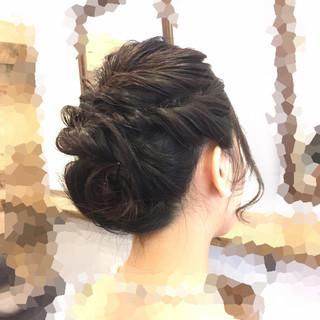 くるりんぱ ボブ 結婚式 フェミニン ヘアスタイルや髪型の写真・画像 ヘアスタイルや髪型の写真・画像