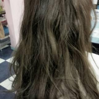 黒髪 ゆるふわ 外国人風 グラデーションカラー ヘアスタイルや髪型の写真・画像