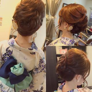ヘアアレンジ ミディアム 着物 大人かわいい ヘアスタイルや髪型の写真・画像 ヘアスタイルや髪型の写真・画像