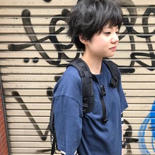マッシュ ストリート パーマ ショート ヘアスタイルや髪型の写真・画像