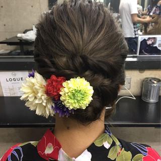 和装 エレガント ヘアアレンジ アップスタイル ヘアスタイルや髪型の写真・画像