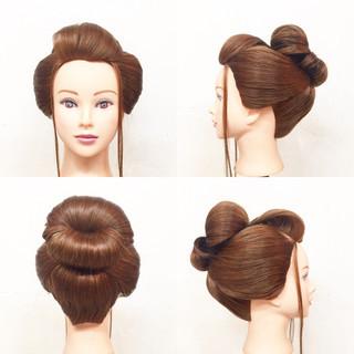 着物 ロング 和服 ヘアアレンジ ヘアスタイルや髪型の写真・画像