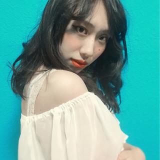 渋谷系 外国人風 ロング モード ヘアスタイルや髪型の写真・画像