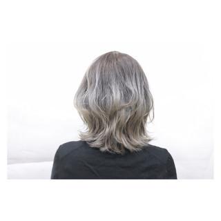 ボブ グラデーションカラー ハイトーン 外国人風 ヘアスタイルや髪型の写真・画像