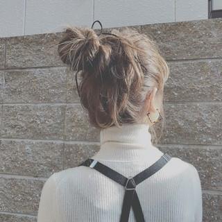 簡単ヘアアレンジ ロング 大人かわいい ゆるふわ ヘアスタイルや髪型の写真・画像