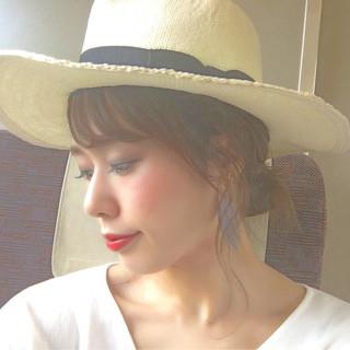 アンニュイ ラフ ヘアアレンジ ハット ヘアスタイルや髪型の写真・画像