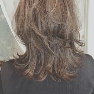 ハロウィン ハイライト 秋 ミディアム ヘアスタイルや髪型の写真・画像