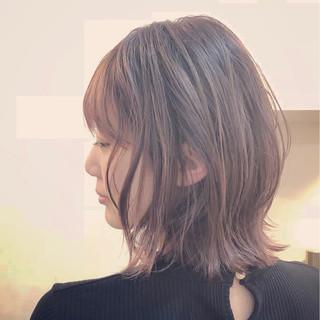 ナチュラル グラデーションカラー バレイヤージュ ハイライト ヘアスタイルや髪型の写真・画像