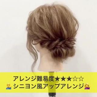 ショート ミディアム ナチュラル ヘアアレンジ ヘアスタイルや髪型の写真・画像