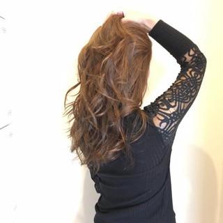 エレガント 上品 ハイライト ロング ヘアスタイルや髪型の写真・画像