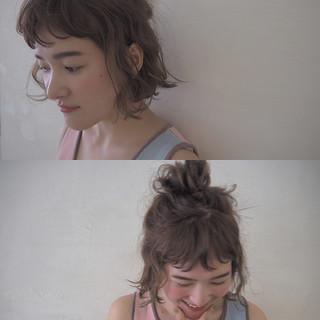 簡単ヘアアレンジ ハーフアップ お団子 波ウェーブ ヘアスタイルや髪型の写真・画像 ヘアスタイルや髪型の写真・画像