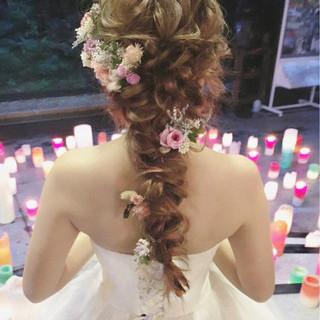ロング パーティ ガーリー ヘアアレンジ ヘアスタイルや髪型の写真・画像