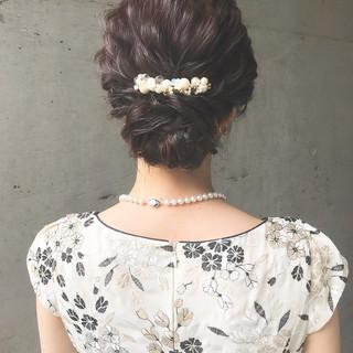 パーティ ヘアアレンジ 結婚式 エレガント ヘアスタイルや髪型の写真・画像