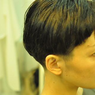 マッシュ ナチュラル 大人女子 黒髪 ヘアスタイルや髪型の写真・画像