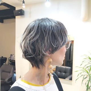 ハイライト モード マッシュ グラデーションカラー ヘアスタイルや髪型の写真・画像