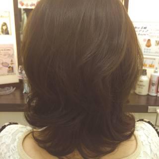 ゆるふわ ミディアム ナチュラル モテ髪 ヘアスタイルや髪型の写真・画像