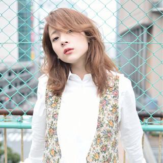 ニュアンス 大人女子 パーマ おフェロ ヘアスタイルや髪型の写真・画像