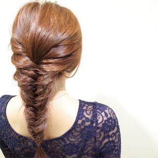 簡単ヘアアレンジ ショート ヘアアレンジ 編み込み ヘアスタイルや髪型の写真・画像